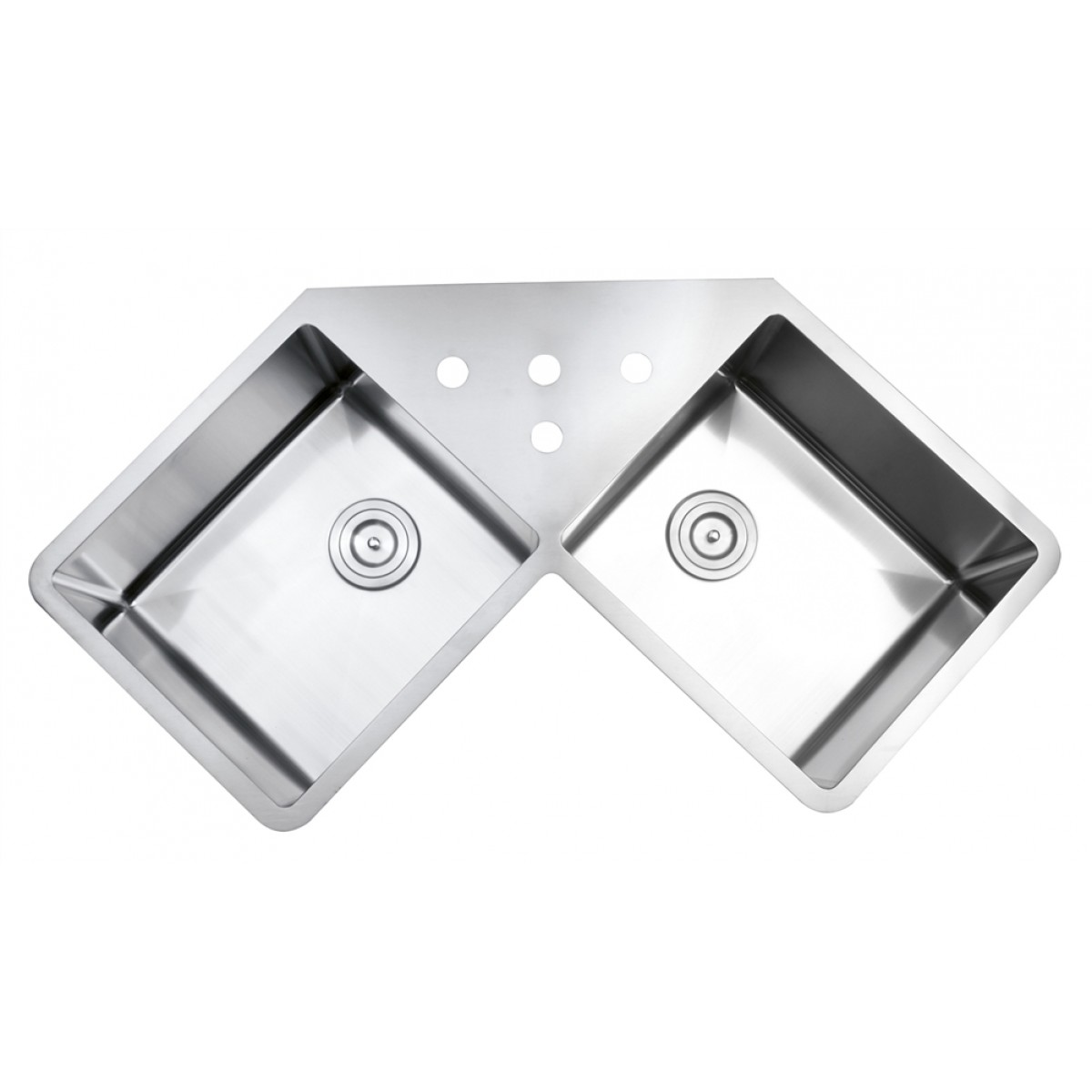 undermount corner kitchen sink best remodels 43 inch stainless steel butterly double