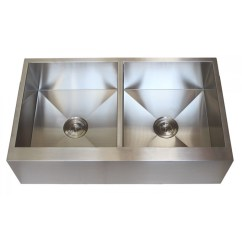 36 Kitchen Sink Credenza Hutch Inch Stainless Steel Flat Front Farmhouse Apron 50 Double Bowl