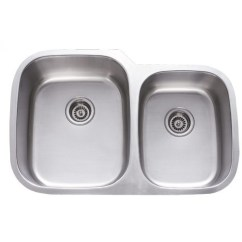 Stainless Steel Kitchen Sink Reviews Home Depot Cabinets Sale 31 Inch Undermount 60 40 Double Bowl