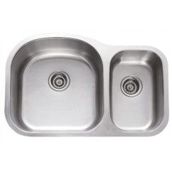 Undermount Stainless Steel Kitchen Sinks Honest Perfect Form 31 Inch 70 30 Double Bowl