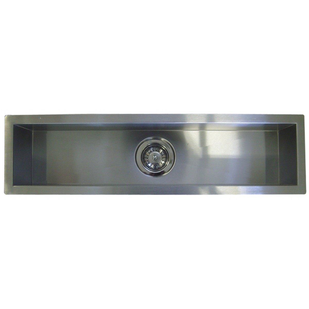 42 inch kitchen sink cabinet storage stainless steel undermount single bowl bar prep narrow zero radius design