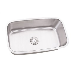 30 Inch Kitchen Sink 2 Person Table Stainless Steel Undermount Single Bowl