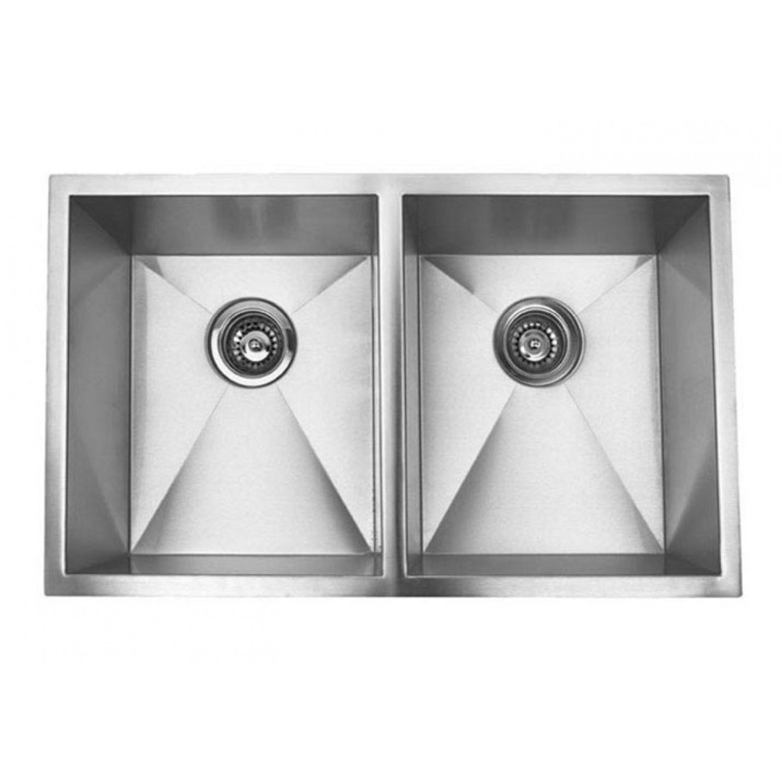 32 Inch Stainless Steel Undermount 50/50 Double Bowl ...