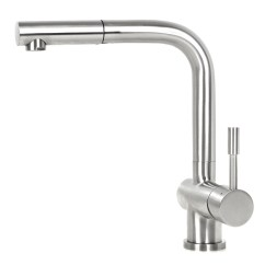 Kitchen Faucets Stainless Steel Maple Shaker Cabinets Ariel Flamingo Lead Free Pull Out Nozzle