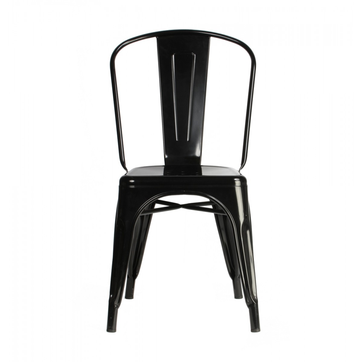 tolix style chair mid century modern arm metal industrial loft designer black cafe