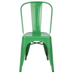 Green Metal Bistro Chairs Office Chair Back Support Cushion Reviews Tolix Style Industrial Loft Designer Cafe