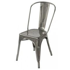 Chair And Steel Outdoor Swivel Rocker Tolix Style Metal Industrial Loft Designer Gun Cafe