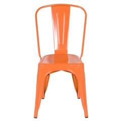 Orange Cafe Chairs Best Desktop Gaming Chair Tolix Style Metal Industrial Loft Designer
