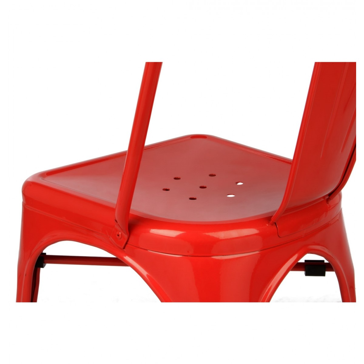tolix style chair desk no wheels ikea metal industrial loft designer red cafe