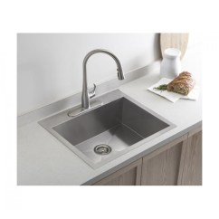 Best Stainless Steel Kitchen Sink Sliding Glass Cabinet Doors 19 Inch Top Mount Drop In Single Bowl