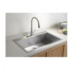 Single Sink Kitchen Floor Ideas 36 Inch Top Mount Drop In Stainless Steel Super