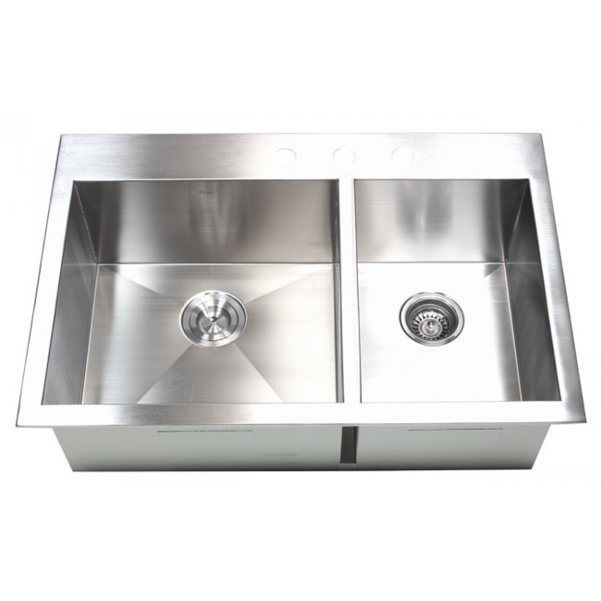 drop in stainless steel 60 40 double