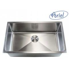 Single Sink Kitchen Discount Cabinets Ariel 30 Inch Stainless Steel Undermount Bowl