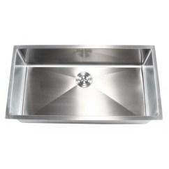 Stainless Steel Single Bowl Kitchen Sink Target Furniture Ariel 36 Inch Undermount