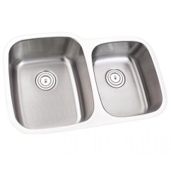 Undermount Kitchen Sink Sizes Stools With Back 32 Inch Stainless Steel 60 40 Offset Double