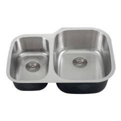 30 Undermount Kitchen Sink Replace Cabinets Inch 18 Gauge Stainless Steel 40 60 Double