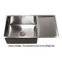Kitchen Sinks With Drain Boards 1950s Table 36 Inch Stainless Steel Undermount Single Bowl Sink Board