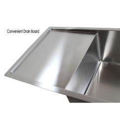 Double Kitchen Sink With Drainboard Buy 42 Inch Stainless Steel Undermount Bowl