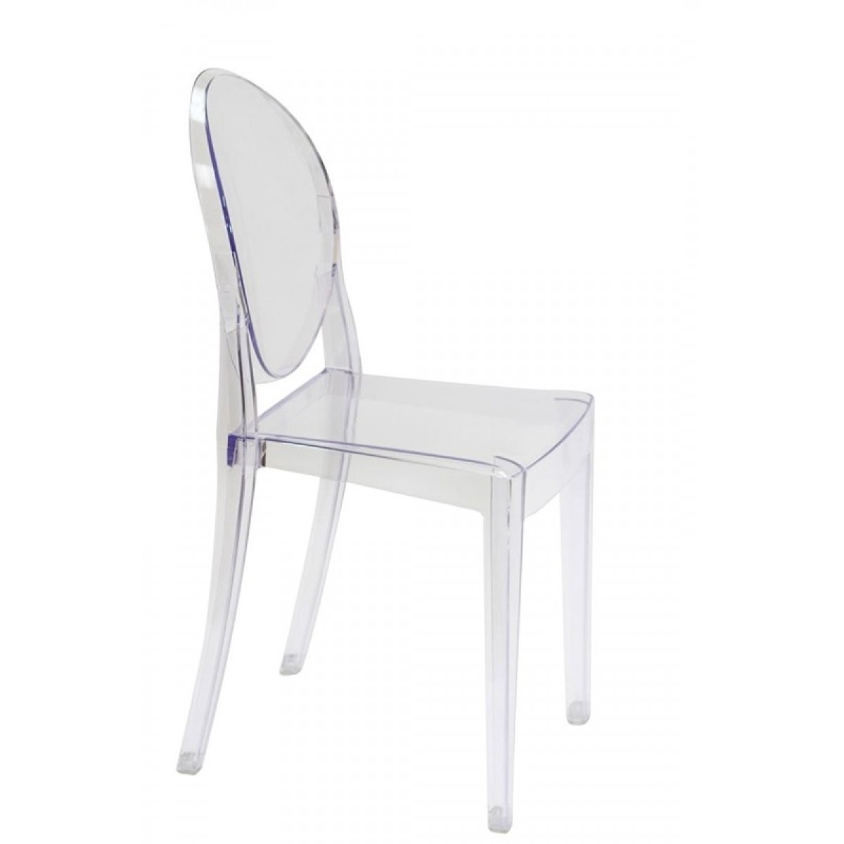 ghost chairs cheap beach chair with footrest and canopy victoria style dining clear color