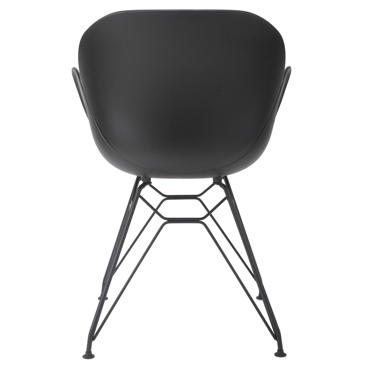 chair steel legs dining slipcover flora black modern accent with