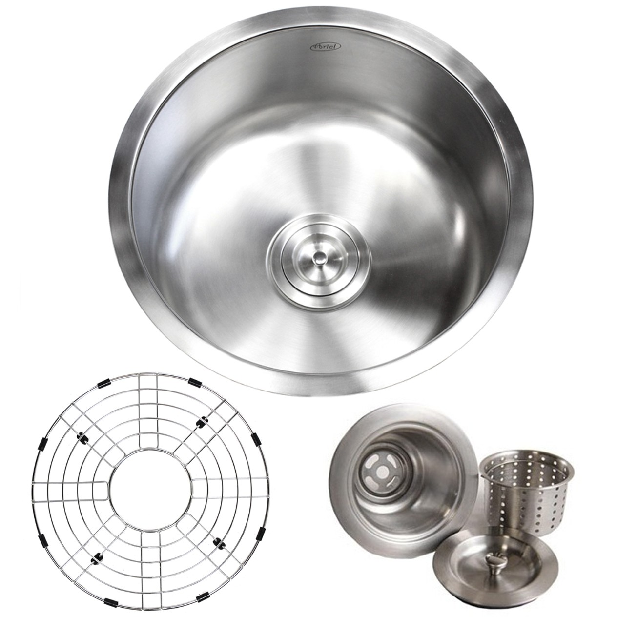 stainless steel single bowl kitchen sink narrow island with seating 17 inch undermount