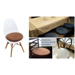 Dining Chair Cushions Non Slip Wood And Metal Chairs Eames Style Memory Foam Seat Cushion Premium Modern