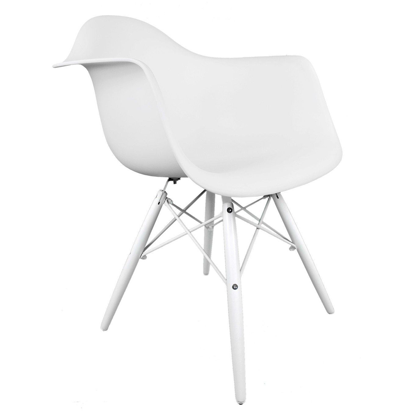 white plastic chair covers for princess party eames style daw molded accent arm with