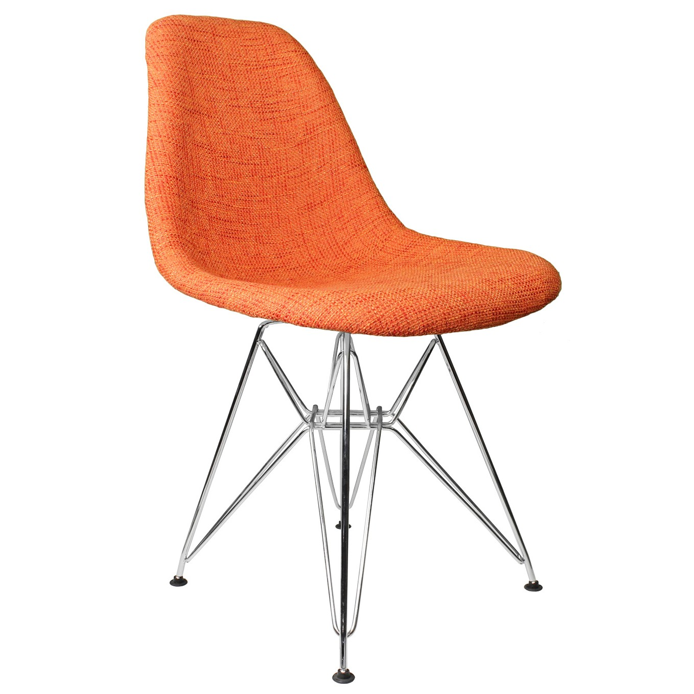 mid century modern accent chair orange clearance outdoor cushions fabric upholstered eames style