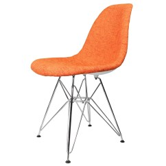 Mid Century Modern Accent Chair Orange Parker Knoll Dining Chairs Fabric Upholstered Eames Style