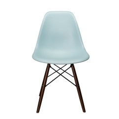 Black Plastic Chair With Wooden Legs Ingenuity High 3 In 1 Nature Series Ice Blue Dsw Molded Dining Side