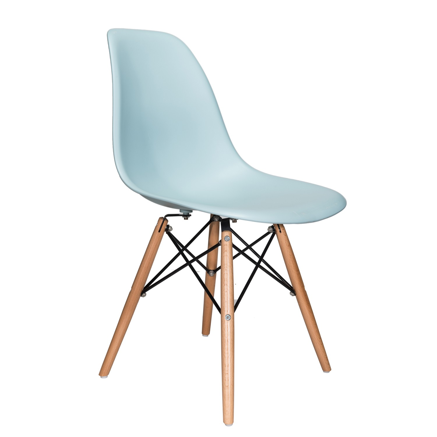 eiffel dining chair with beech legs gas fire pit table and chairs uk nature series ice blue eames style dsw molded plastic