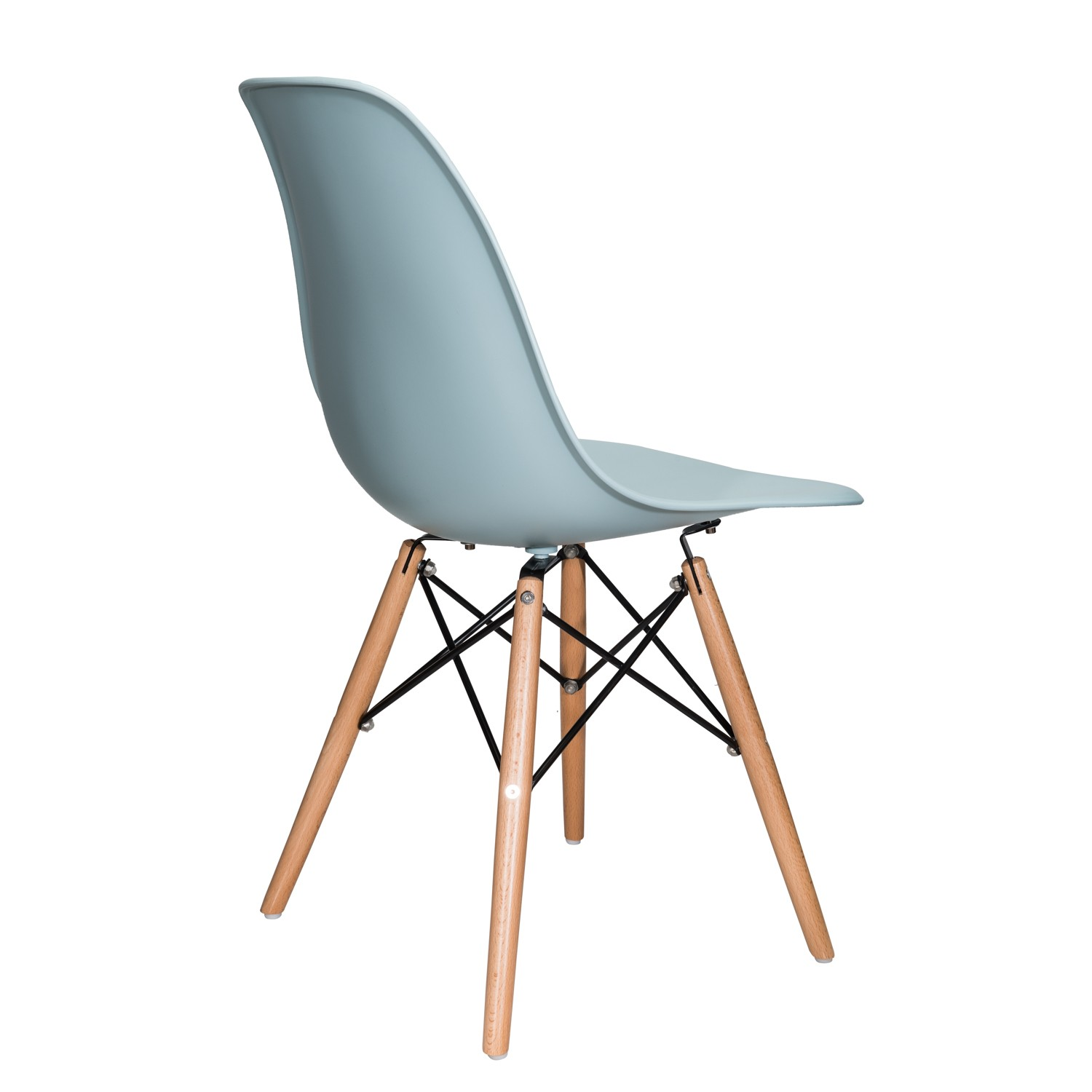eiffel dining chair with beech legs best baby chairs for toddlers nature series ice blue eames style dsw molded plastic