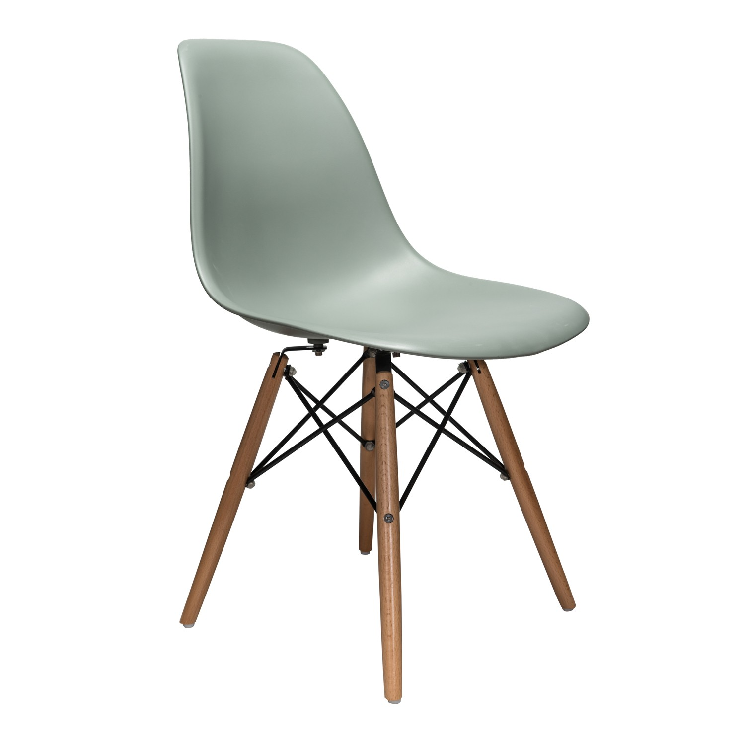 eiffel dining chair with beech legs ergonomic meme nature series moss gray dsw molded plastic side