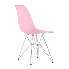 Plastic Chairs With Steel Legs Beach And Umbrellas Eames Style Dsr Molded Pink Dining Shell Chair