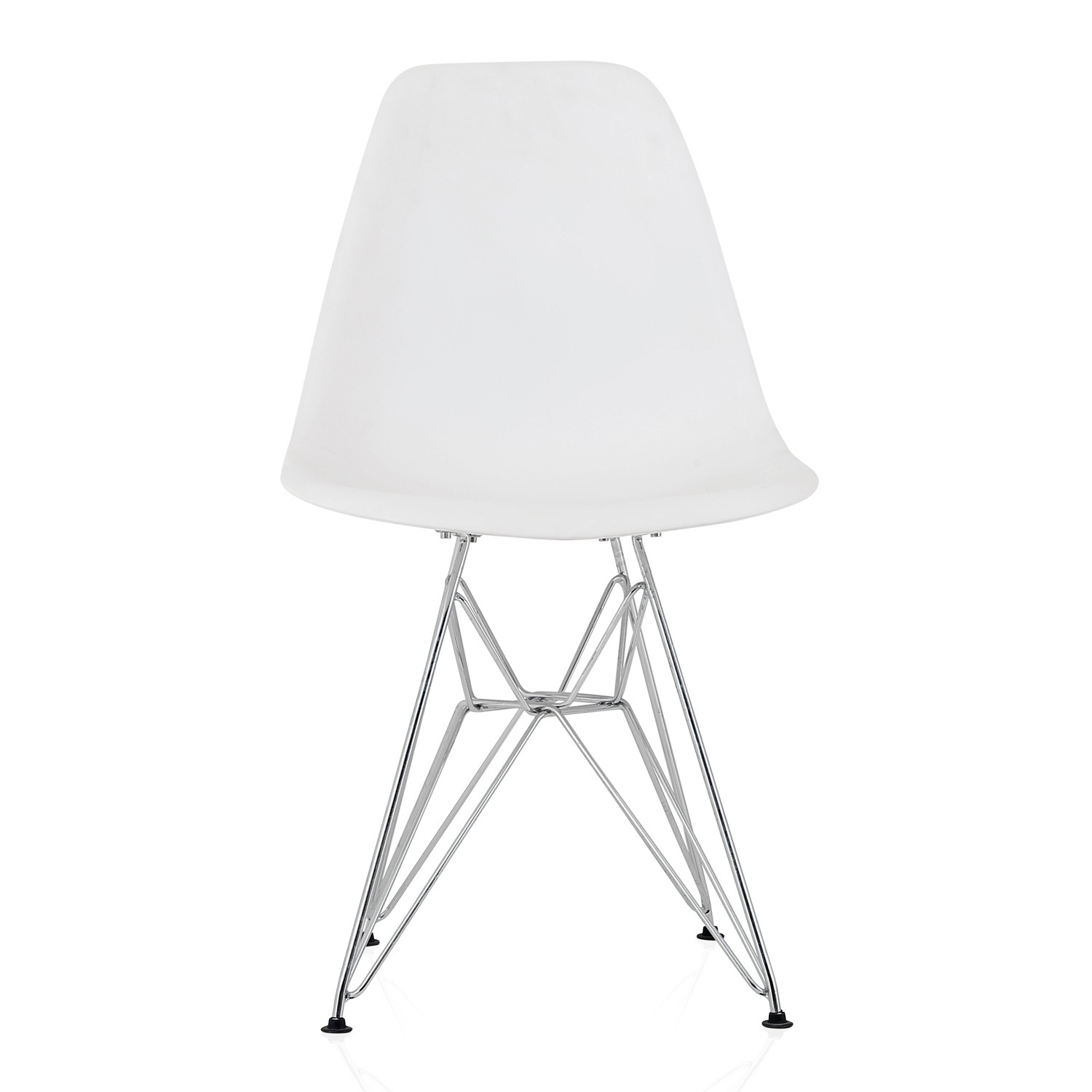 plastic chairs with steel legs office chair shop near me eames style dsr molded white dining shell