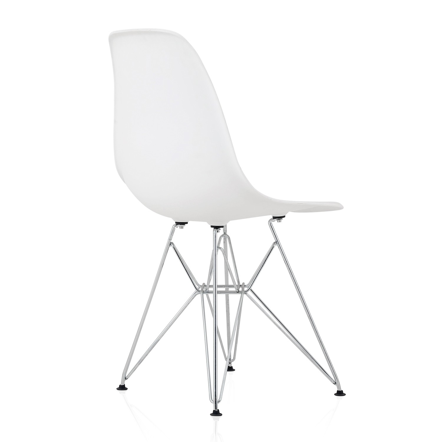 plastic chairs with stainless steel legs rocking for nursery under 100 eames style dsr molded white dining shell chair
