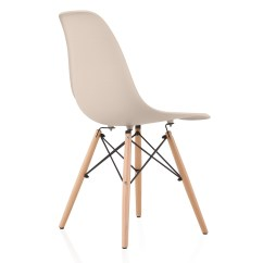 Eiffel Dining Chair With Beech Legs Metal Chairs Ikea Nature Series Cream Beige Eames Style Dsw Molded Plastic