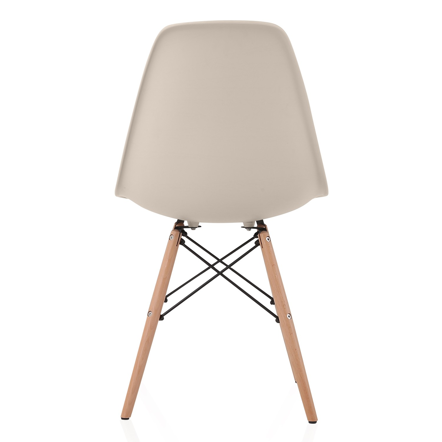 eiffel dining chair with beech legs swing for child nature series cream beige eames style dsw molded plastic