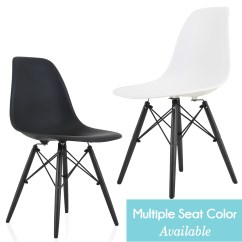 Black Plastic Chair With Wooden Legs Painted Dining Chairs Eames Style Dsw Molded Side