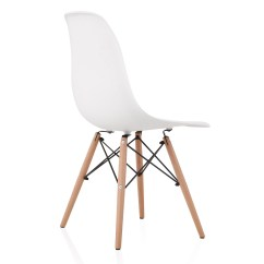 Eiffel Dining Chair With Beech Legs Covers At Dunelm Eames Style Dsw Molded White Plastic Shell