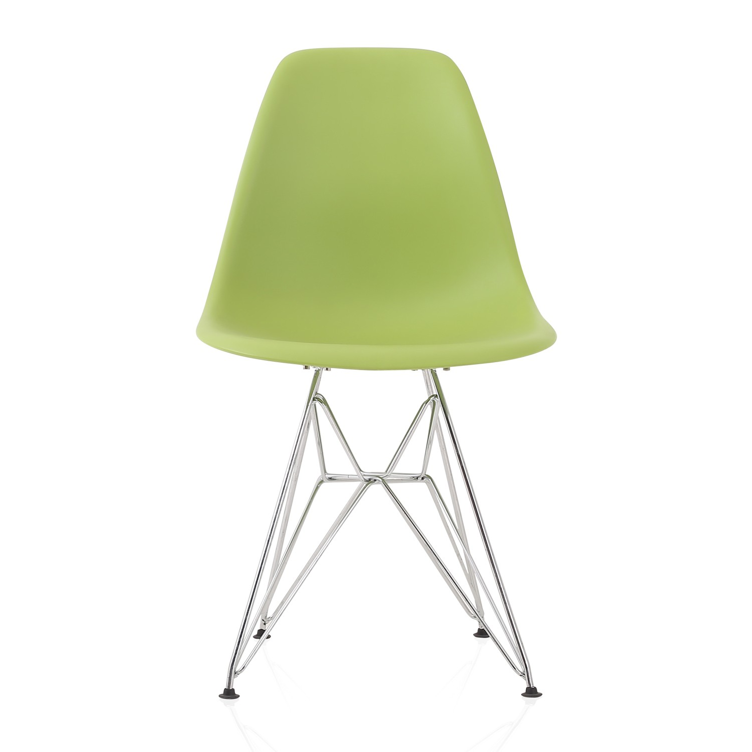 plastic chairs with steel legs lightweight aluminum webbed folding lawn eames style dsr molded lime green dining shell