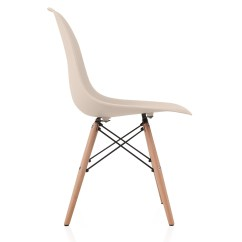 Eiffel Dining Chair With Beech Legs Beach Chairs Wheels Nature Series Cream Beige Eames Style Dsw Molded Plastic