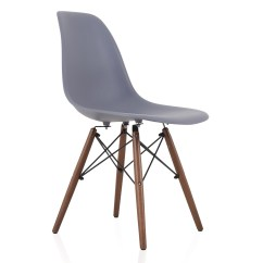 Dark Walnut Dining Chairs Nat's Fishing Chair Not Working Dsw Gray Plastic Shell With Wood