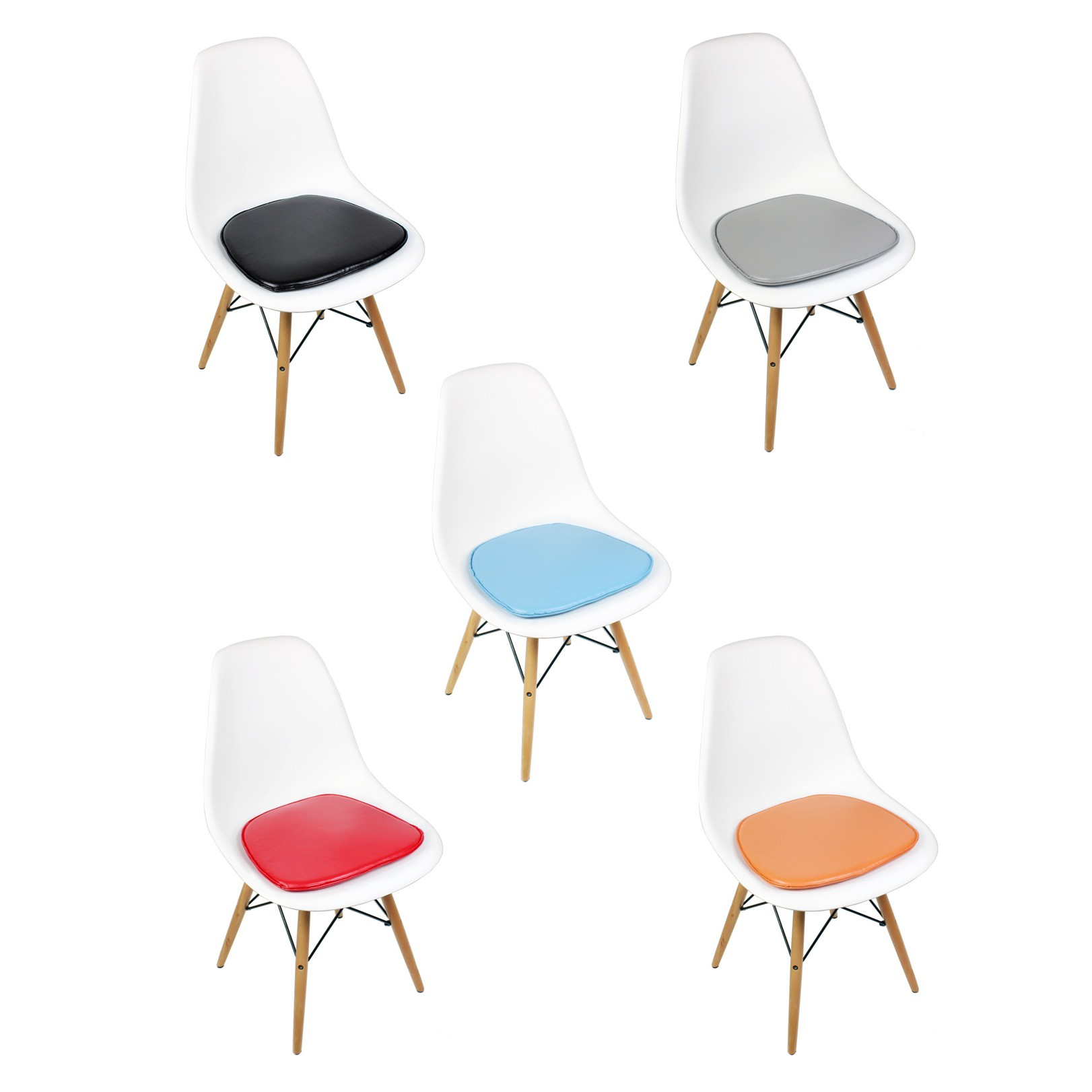 white cushion chair ikea hanging swing eames style dsw molded plastic dining shell