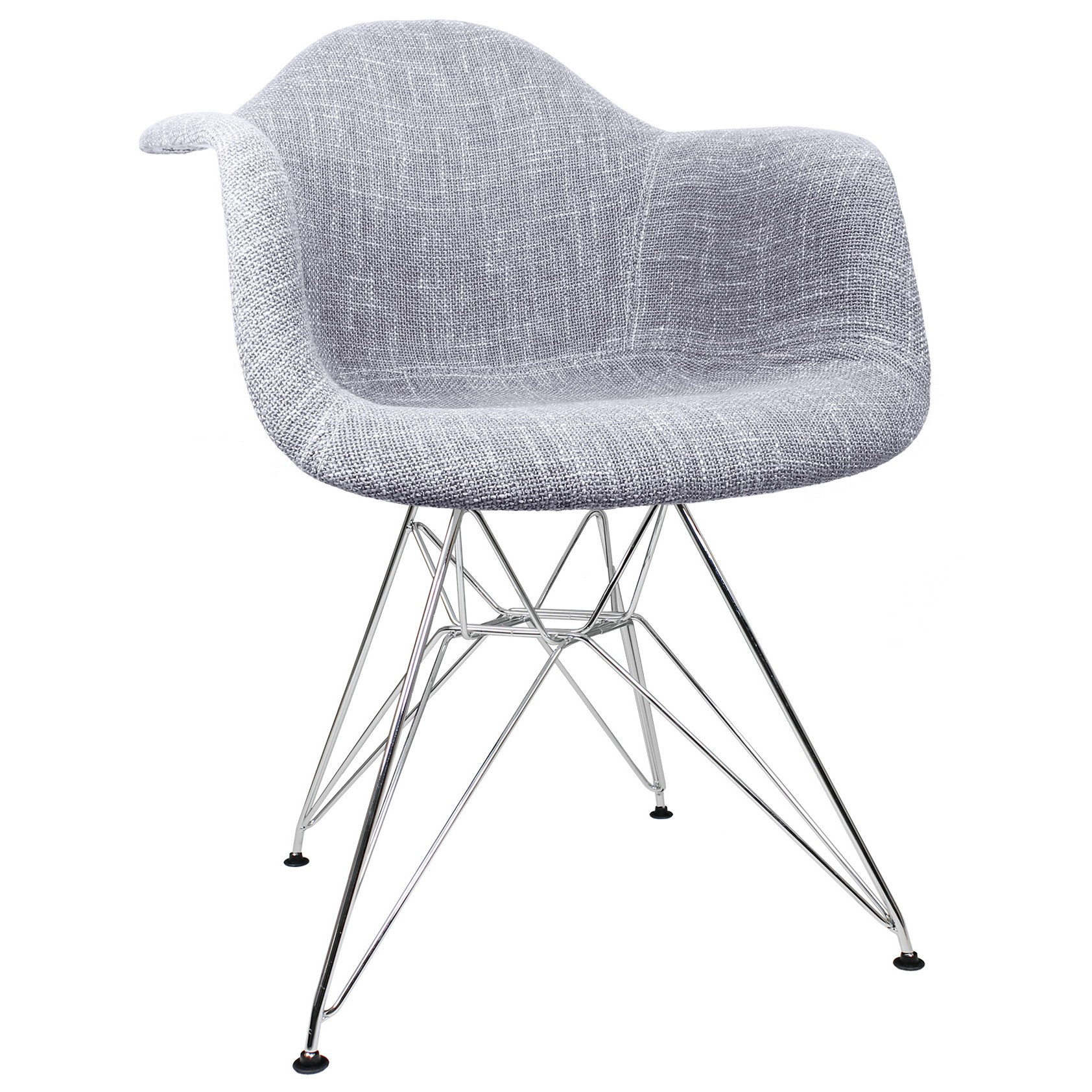 grey accent chair with arms rolling shower commode gray woven fabric upholstered eames style arm