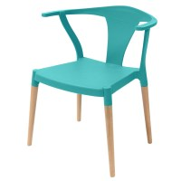 Icon Series Turquoise Modern Accent Dining Arm Chair Beech ...
