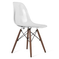 Eames Style DSW Clear Acrylic Plastic Dining Shell Chair ...