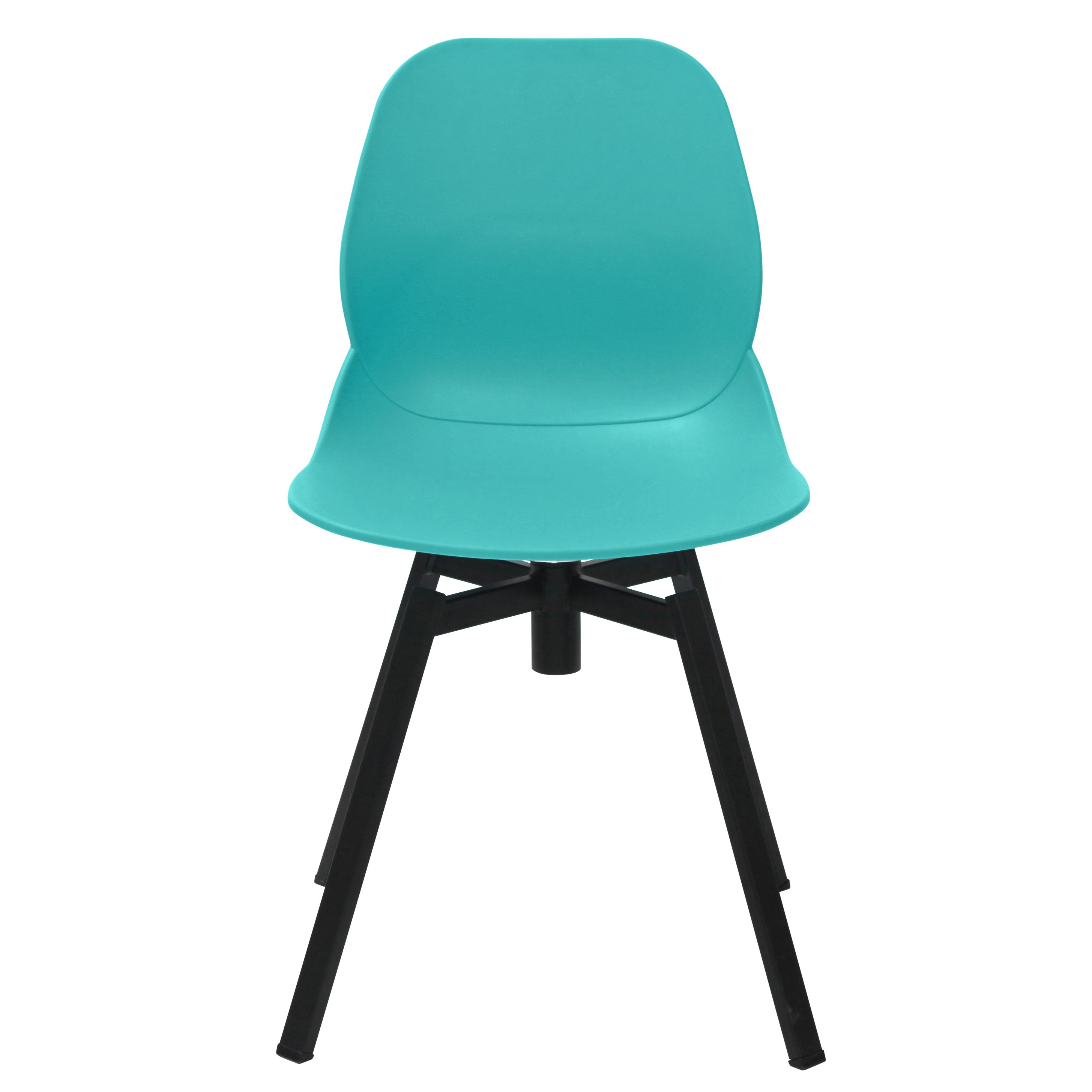 turquoise side chair bubble swing stand joy series dining shell black leg