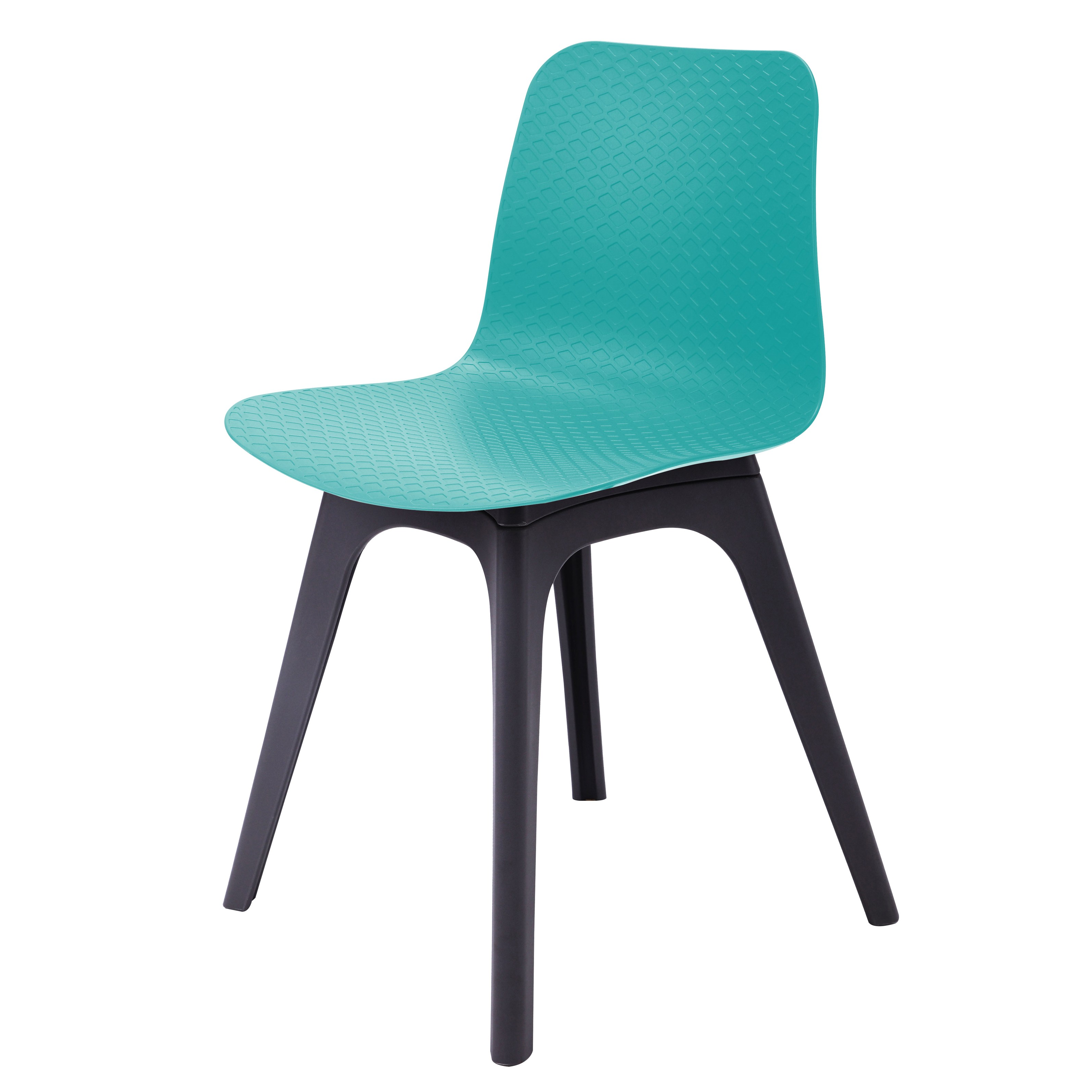 turquoise side chair folding vanity hebe series dining shell molded