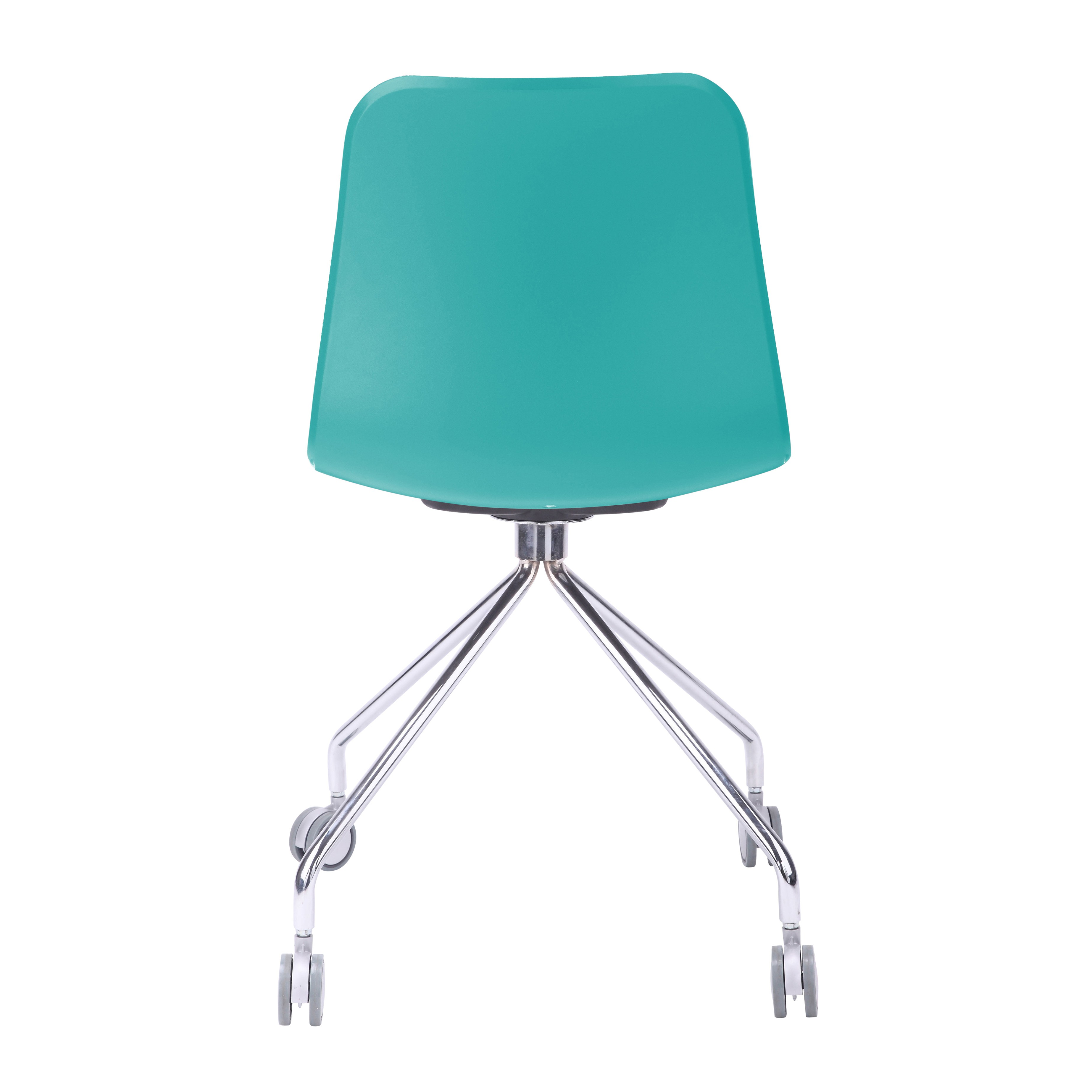 turquoise office chair swivel chairs uk hebe series molded plastic designer